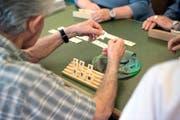 Senioren im Wohn- und Pflegezentrum Lippenrüti in Neuenkirch. Bild: Nadia Schärli (Neuenkirch, 23. Mai 2016)