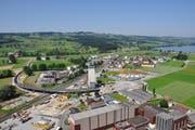 Luftbild der neuen Umfahrung im Juni 2013. (Bild: PD)