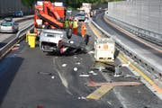 In den Baustellenbereichen Stans Süd - Buochs - Beckenried wurden in beiden Fahrtrichtungen insgesamt 15 Verkehrsunfälle an unterschiedlichen Orten polizeilich registriert. (Bild: Nidwaldner Polizei)