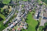 Die Kantonsstrasse im Dorf Entlbuch wird auf einer Länge von ca. 700 Meter total erneuert. (Bild: PD)