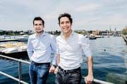 Die Chronext-Gründer Ludwig Wurlitzer (links) und Philipp Man. Das Bild entstand vor zwei Wochen bei einem Aufenthalt in Zürich. (Bild: pd)