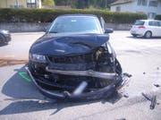 Eines der am Unfall beteiligten Fahrzeuge. (Bild: Kapo Uri)