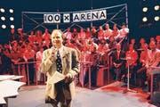Jubiläum vor 17 Jahren: Sendungsleiter Filippo Leutenegger 1996 bei der 100. Ausgabe der «Arena».