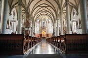 Die Kirche St. Jakob in Escholzmatt, 1894 erbaut und 1983/84 restauriert, ist ein typisches Beispiel für eine neugotische Kirche. (Bild Boris Bürgisser)