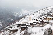 Von der Abwanderung bedroht: das Dorf Albinen. (Bild: Cyril Zingaro/KEY)