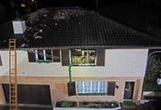 Die Brandursache ist Gegenstand der laufenden Ermittlungen der Branddetektive der Luzerner Polizei. (Bild: Luzerner Polizei)