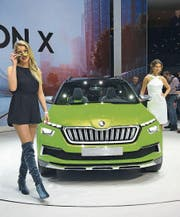 Die Vision X zeigt die Designrichtung von Skoda. (Bild: Kn.)