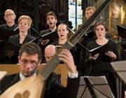Das Collegium Vocale trat in der Franziskanerkirche mit dem Capricornus Consort Basel auf. (Bild: Priska Ketterer/Lucerne Festival (2. April 2017))