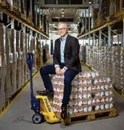 Peter Galliker (53), CEO der Galliker Transport AG, im Firmensitz in Altishofen. (Bild: Philipp Schmidli (Altishofen, 7. Februar 2017))