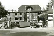 1934 Abriss des alten Pneumatikhaus-Gebäudes. Hinten gut sichtbar die Spitalmühle. (Bild: pd)
