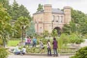 Das Torhaus im Botanischen Garten von Karlsruhe.