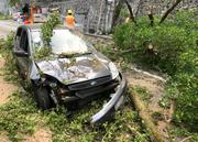 Das Auto erlitt Totalschaden. (Bild: PD/Kantonspolizei Uri)