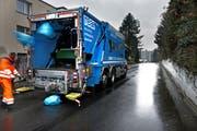 Luzern will keine unterirdische Kehrichtabfuhr. Im Archivbild: Müllabfuhr in der Stadt Luzern. (Archivbild/Neue LZ)