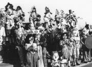 Die «Schnäggebörger» Mitte der 1970er-Jahre mit dem Sujet «Harlekin». (Bild: PD)