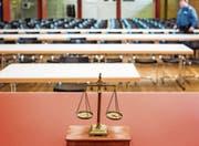 Der provisorische Gerichtssaal für den Prozess. (Bild: Chris Iseli/AZ (Schafisheim, 7. März 2018))