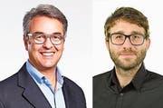 Giorgio Pardini (58, links) übergibt das Präsidium des LGB an Martin Wyss (32).