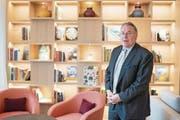 Bruno H. Schöpfer, Managing Director des Bürgenstock Hotels, im Waldhotel Healthy Living. (Bild: Boris Bürgisser (Bürgenstock, 14. Dezember 2017))