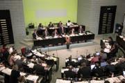 Regierungsrat Marcel Schwerzmann spricht anlässlich des Konsolidierungsprogramms 2017. (Bild: Manuela Jans-Koch)