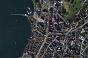 An der Zeughausgasse in Zug hat es am Donnerstagabend gebrannt. (Bild: Google Maps)