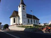 Die neue Kirchenmauer. (Bild: PD)