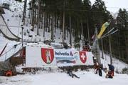 In die Sprungschanze in Engelberg soll ein Millionenbetrag investiert werden. (Bild: Philipp Schmidli/Neue LZ)