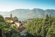 Die Wallfahrtskirche Madonna del Sasso ist nur eine kurze Fahrt mit der Standseilbahn vom Zentrum Locarnos entfernt.