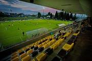 Schauplatz des Zwischenfalls (das Bild stammt nicht von der abgebrochenen Begegnung): Das Gersag-Stadion in Emmenbrücke. (Bild: Pius Amrein)