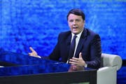 epa06365640 Former Italian Prime Minister and Secretary of Italian party 'Partito Democratico' (PD / Democratic Party), Matteo Renzi, during the TV show 'Che tempo che fa' in Milan, Italy, 03 December 2017. EPA/FLAVIO LO SCALZO (Bild: Flavio Lo Scalzo/EPA)