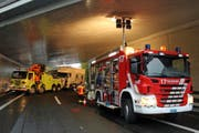 Der Abschleppwagen musste extra aus Luzern anrücken. Bild: FFZ
