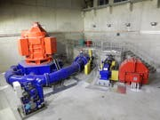 Blick ins Kraftwerk Realp II des Elektrizitätswerk Urseren. (Bild: PD)