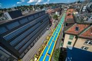 Die 200 Meter lange Rutschbahn in St. Gallen (Bild: PD / Boostr)