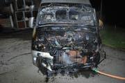 Das Wohnmobil erlitt Totalschaden. (Bild: Luzerner Polizei)