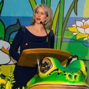 Die Luzerner Stadträtin Franziska Bitzi-Staub, auch als Ehrengast eingeladen, bei ihrer Ansprache. (Bild: Heinz Steimann)