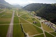 Blick auf den Flugplatz Buochs (Archivbild Keystone / Urs Flüeler)