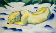 ... Franz Marcs «Liegender Hund im Schnee». (Bild: PD/Galerie nationale Tretiakov/Städel Museum)