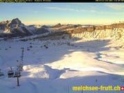 Melchsee-Frutt: 7 von 11 Anlagen offen. (Bild: Webcam)