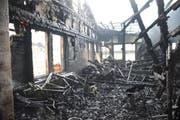 Die Brandruine am Tag danach. (Bild: Kantonspolizei Uri)