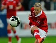 Aushängeschild des Schweizer Nationalteams: die Krienserin Lara Dickenmann. (Bild: Keystone)