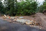 Das bereitgestellte Fundament für den Holzturm. (Bild: pd)
