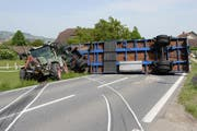 Die Unfallstelle auf der Bernstrasse in Mauensee. (Bild: Luzerner Polizei)