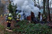 40 Personen der Feuerwehr Stadt Luzern waren im Einsatz (Bild: Feuerwehr Stadt Luzern)