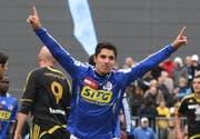 Cristian Ianu – hier bei einem Spiel im Oktober 2009 – hat gegen den FC Thun das einzige Luzerner Tor geschossen. (Bild Philipp Schmidli/Neue LZ)