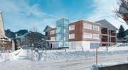 So soll der Erweiterungsbau des Schulhaus Gross aussehen. (Bild: PD)