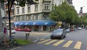 Die Filiale der Metzgerei Kauffmann an der Stadthausstrasse 2 schliesst. (Bild: Google Maps)