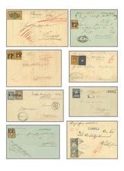 Alte Briefe (Bild) und andere Briefmarken aus dem Entlebuch kosteten 122'000 Franken und übertrafen die Schätzung von 80'000 Franken. (Bild: PD)