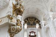 Hochaltar und Orgen in der Klosterkirche St. Urban (Bild: Roger Grütter)