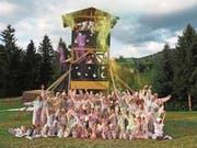 Der Blauring Meggen feiert eine farbenfrohe «Sternschnuppenstaub»-Party. (Bild: Lagerbild: Vera Hürlimann (Doppleschwand, 14. Juli 2017))