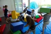 Das Betreuungsangebot in der Stadt Luzern wird ausgebaut. Auf dem Bild ist der Neubau für die Betreuung der Kinder im Schulhaus Geissenstein vom 31. August 2015 zu sehen. (Bild Dominik Wunderli)