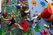 Blick in die Kinderkrippe Schnäggehüsli im Maihof. (Bild: Roger Grütter / Neue LZ)