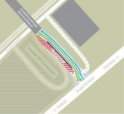 Die Spuren zwischen dem Tunnel und der Zugerstrasse werden verlegt. (Bild: Grafik zvg)